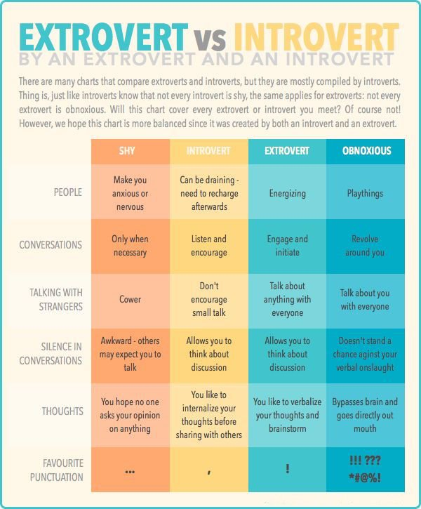 A detailed comparison between Introverts and Extroverts