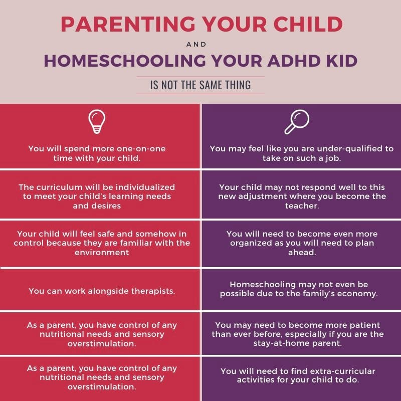 Parenting and Homeschooling your kid is not the same